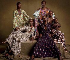 "femmequeens: ""Achok Majak, Grace Bol, Alek Wek, Ajak Deng, and Angok Mayen with her daughter Alyieth photographed Inez Van Lamsweerde and Vinoodh Matadin, Vogue Magazine Janury 2017 """