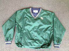 Vintage green Baylor Bears Champion pullover windbreaker sweatshirt