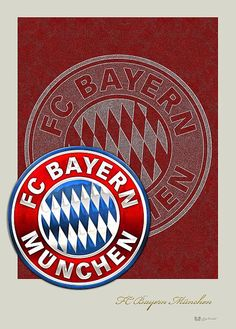 FC Bayern Munich Logo and Badge fine art print by Serge Averbukh via FineArt America. Bayern Munich Wallpapers, Dfb Team, Fc Bayern Munich, Football Wallpaper, Chicago Cubs Logo, Fine Art America, Badge, Fine Art Prints, Cool Designs