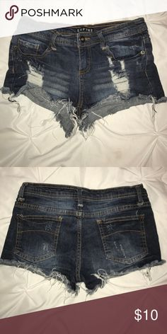 Empyer Short-Shorts Dark wash, distressed shorts, super cute! Empyer Shorts Jean Shorts