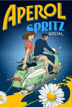 Vintage Aperol Spritz poster