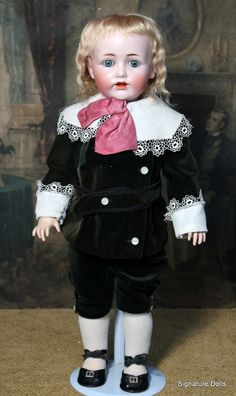 "22"" JD Kestner 257 German Bisque Toddler as Lord Flauntleroy. Growing up my best friend had a painting of Pinkie Blue Boy. This reminds me of that. I always loved Pinkie."