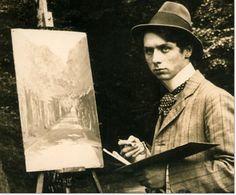 Max Ernst in Bruhler Schlosspark, 1909