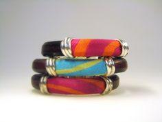 elcuadernodeideas: leather and silk cord bracelet