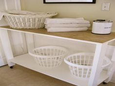 Organize Laundry Room Table