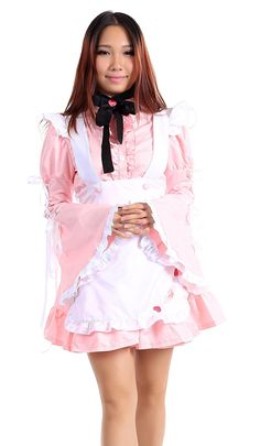 SDWKIT Maid Culture Cosplay Costume Maid Dress 14 Snowflake of Sakura Set L -- Continue to the product at the image link.
