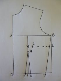 Rhonda's Creative Life: Drafting The Front Fitted Bodice, Adding Darts Girl Dress Patterns, Dress Making Patterns, Doll Sewing Patterns, Sewing Tutorials, Sewing Blouses, Bodice Pattern, Pattern Cutting, Pattern Drafting, Fashion Sewing