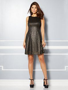 Shop Eva Mendes Collection - Maria Jacquard Dress - Floral. Find your perfect size online at the best price at New York