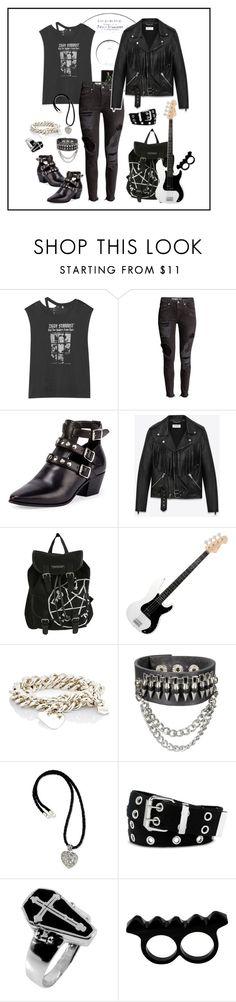 """Ziggy Stardust Print T-shirt"" by ul-inn ❤ liked on Polyvore featuring R13, Yves Saint Laurent, Ann Dexter-Jones, NOVICA, Relic, L'Artisan Créateur, women's clothing, women, female and woman"
