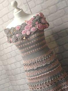 Boho dress Boho Gift fashion dress Lace Crochet Irish crochet
