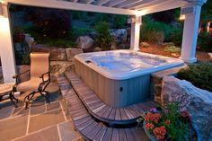 Hot tub- nice set up