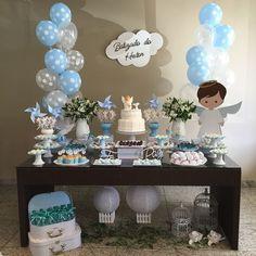 Haz que la celebración de bautizo de tu hijo sea un día especial con esta idea para decorar. #bautizo #decoracion