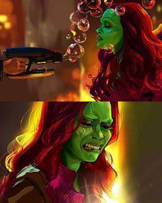 Infinity War or EndGame? Marvel Comics, Marvel Funny, Marvel Avengers, Marvel Girls, Avengers Memes, Marvel Memes, Marvel Universe, Gamora Marvel, Gamora Comic