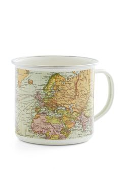 Map Out Your Morning Mug. Plan the days agenda while enjoying your morning brew in this mug! #multi #modcloth