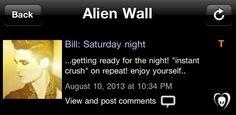 """Bill: Sábado a noite...  ...se preparando para a noite! """"Paixão instantânea"""" na repetição! Divirtam-se ..."""