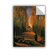 Avenue Of Poplars In Autumn by Vincent Van Gogh Art Appeelz Removable Wall Mural