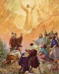 Catholic Pictures, Jesus Pictures, Heaven Pictures, Religious Images, Religious Art, Jesus Burial, Rosary Mysteries, Ascension Day, Bible Photos