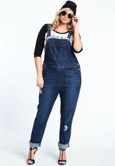 womens plus size denim overalls | ChoozOne | Fashion | Pinterest ...
