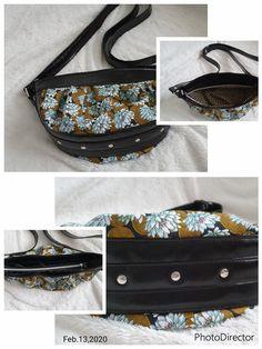 Sac Cancan cousu par Nathalie - Tissu(s) utilisé(s) : Coton et simili cuir - Patron Sacôtin : Cancan
