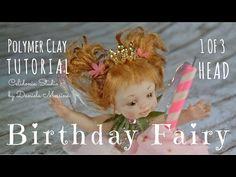 OOAK Birthday Fairy Part 1 of 3 Head polymer clay tutorial