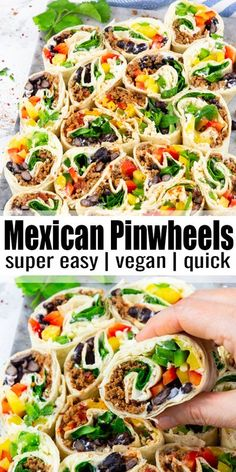 Vegan Mexican Recipes, Vegan Lunch Recipes, Delicious Vegan Recipes, Vegan Lunches, Healthy Recipes, Vegan Foods, Vegan Snacks, Free Recipes, Healthy Food
