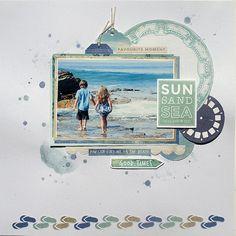Travel Scrapbook, Scrapbook Albums, Scrapbook Layouts, Scrapbook Paper Crafts, Scrapbooking Ideas, Beach Trip, Beach Pool, General Crafts, Scrapbooks