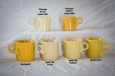 Fiestaware - Homer Laughlin China Company - All the Fiestaware Colors - Color Charts for Fiestaware - Fiesta Ware