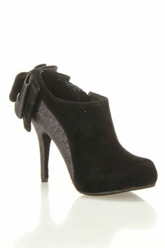 Black Bow Detail Booties