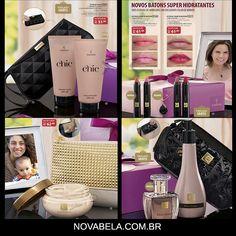 CHEGARAM! Kits especiais DIA DAS MÃES! Vem ver: www.novabela.com.br   #diadasmaes #maquiagem #make #promocao #novabela #eudora #probelle Chic Chic, Polyvore, Image, Fashion, Lipsticks, Mother's Day, Belle, Moda, Fasion