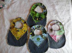 Blue Jean John Deere baby bibs by VanDuren on Etsy, $25.00