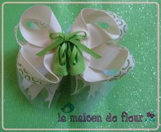 Green Ballet ShoesTulle Hairbow