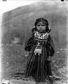 Little girl on Colville Indian Reservation ca. 1900-1910