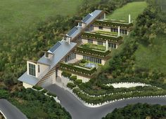 multi-tiered earth sheltered home concept