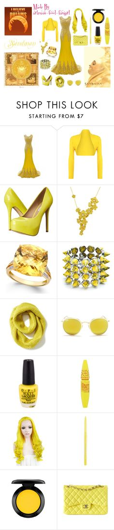 """""""Sandman"""" by polyvore-character-outfits ❤ liked on Polyvore featuring WearAll, Steve Madden, Carrera y Carrera, Eddie Borgo, Old Navy, Ray-Ban, Maybelline, Stila, MAC Cosmetics and Chanel"""