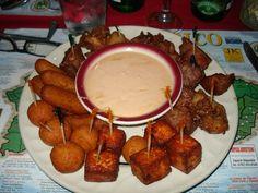 Entremeses - Croquetas de pollo, queso frito, masitas de cerdo, alitas fritas, sorullitos de maíz