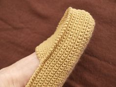 Crocheted Moccasin pattern by Umme Yusuf