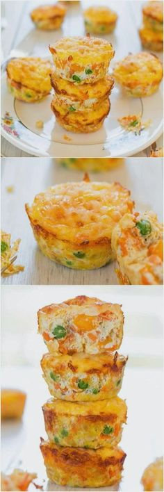 Egss, cheese muffins