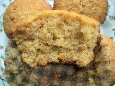 Magdalenas de naranja integrales y sin azúcar Olor a hierbabuena