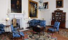 Axminster carpet in the Blue Drawing Room, Dumfries House