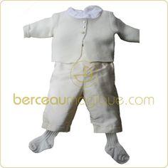 Tenue de baptême Bébé garçon Ecru - Dagobert
