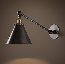 20TH C. Library Single Sconce