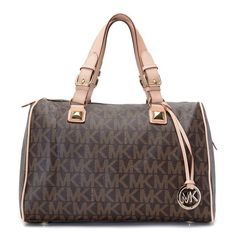 Michael Kors Grayson Logo Large Brown Satchels.More than 60% Off, I enjoy these bags.It's pretty cool (: JUST CLICK IMAGE~ | See more about brown satchel, michael kors and logos.