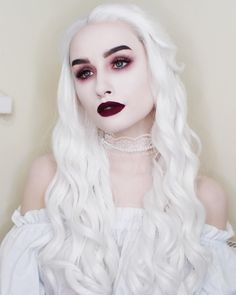 White Queen inspired makeup and outfit