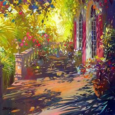 When you grow up with this kind of sunshine, who can argue Laurent Parcelier. Watercolor Landscape, Landscape Paintings, Watercolor Paintings, Artist Painting, Artist Art, French Impressionist Painters, Edward Hopper, Post Impressionism, Art For Art Sake