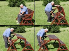 What do you think of this folding bench that can be turned into a picnic table?