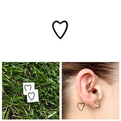 Tattify Small Heart Outline Temporary Tattoo A little love Set of 2 Other Styles Available and Fashionable Temporary Tattoos Tattoos that are Long Lasting and Waterproof -- Check out the image by visiting the link. Tattoo Kits, Diy Tattoo, Tattoo Blog, Tattoo Ideas, Tiny Heart Tattoos, Cute Small Tattoos, Elephant Tattoo Design, Elephant Tattoos, Hipster Jewelry