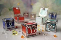 Orange tooth fairy box Baby jewelry box with a dog charm