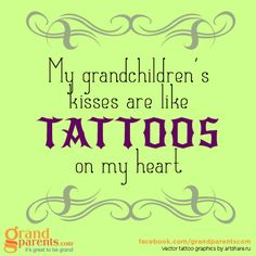 This makes my eyes tear up, remembering my grandson's kisses.