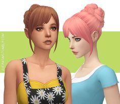 The Sims 4 CC    Aveira's Sims 4    Nolan Sims Vivian Hair V1 - Recolor