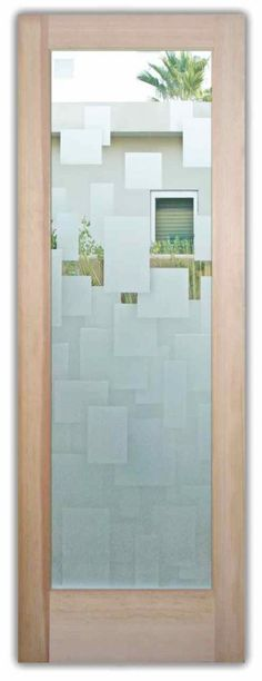 Floating Squares Interior Glass Door - Etched Glass door - CUSTOMIZE YOUR INTERIOR GLASS DOOR! Interior glass doors or glass door inserts. Brighten the look with a beautiful interior glass door featuring a custom frosted glass door design by Sans Soucie! Etched Glass Door, Frosted Glass Door, Glass Etching, Entry Doors With Glass, Glass Front Door, Glass Doors, Front Doors, Glass Design, Door Design